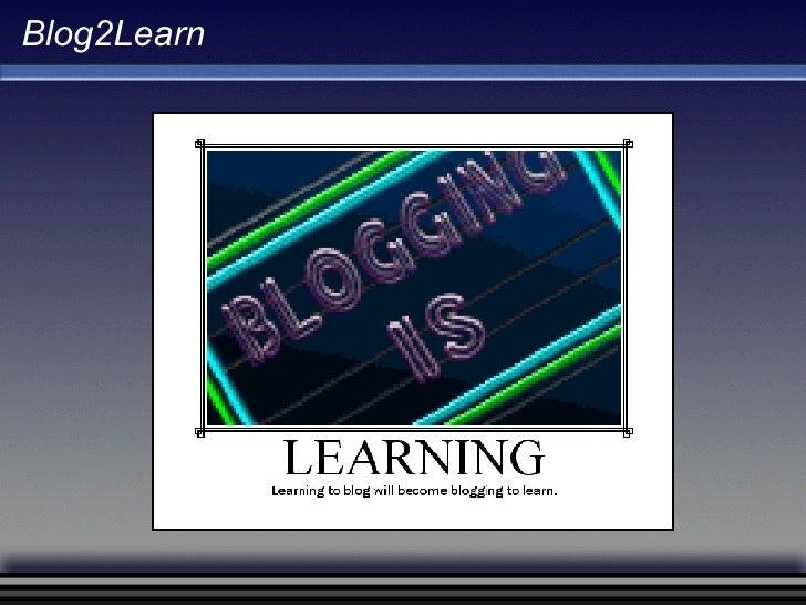 Blog2Learn