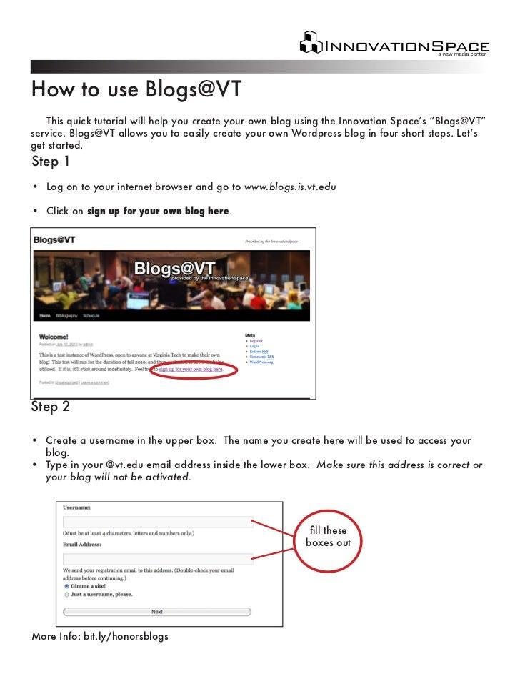 Blogging 101, VT HRC