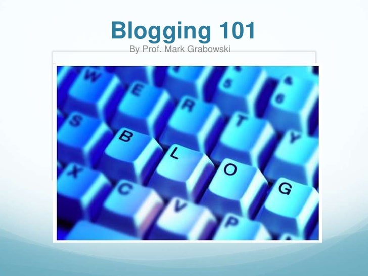 Journalists' Guide to Blogging