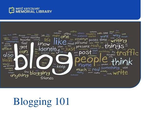 Blogging 101 Session One