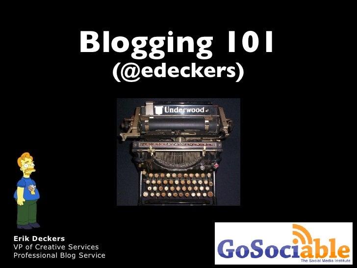 Basic Blogging for Small Businesses, GoSociable