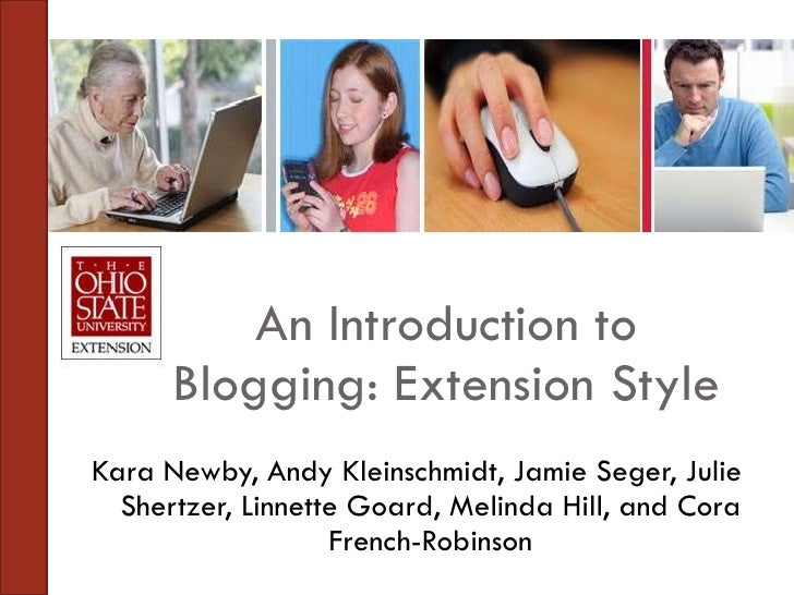 Blogging,   Extension Annual Conference 2009