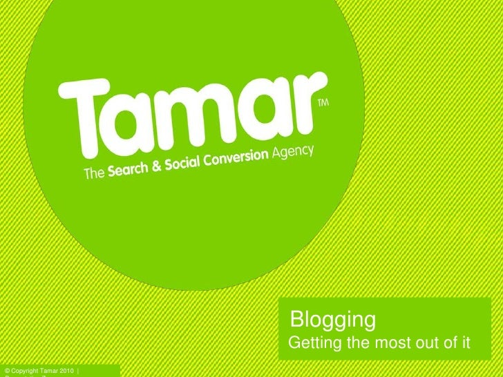 Blogging and twitter