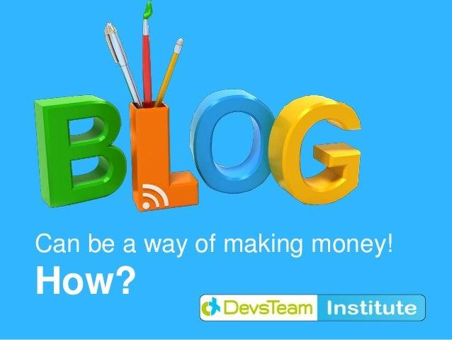 Blogging as profession