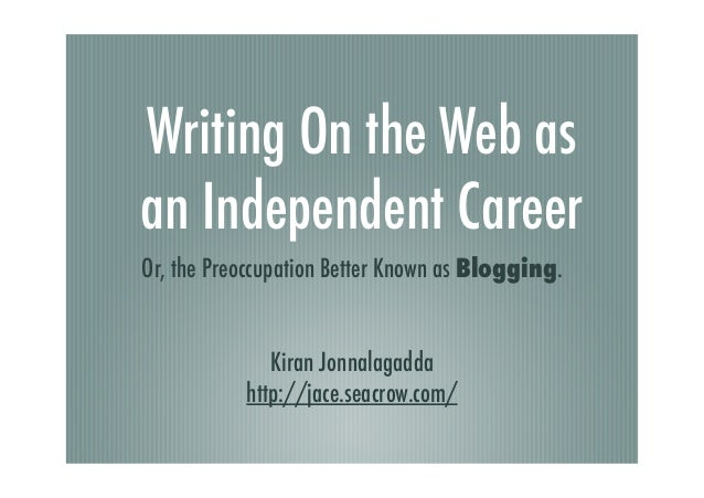 On blogging as a career (June 2005)