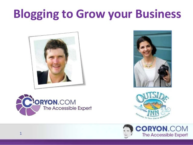 1 Blogging to Grow your Business
