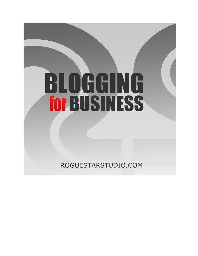 BloggingforBusiness RogueStarStudio roguestarstudio.com