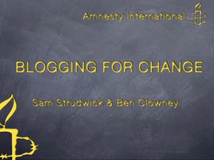 Blogging for change