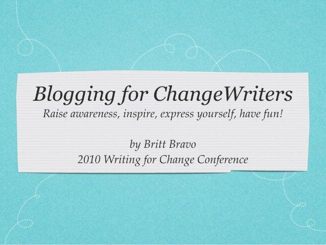 Blogging for ChangeWriters