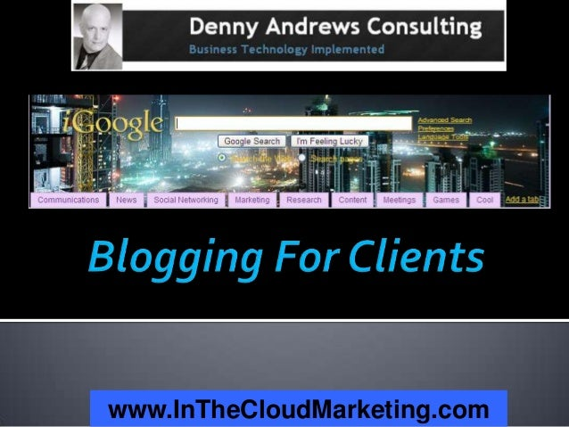 Blogging For Clients