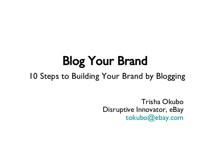 Blogging for Personal Branding