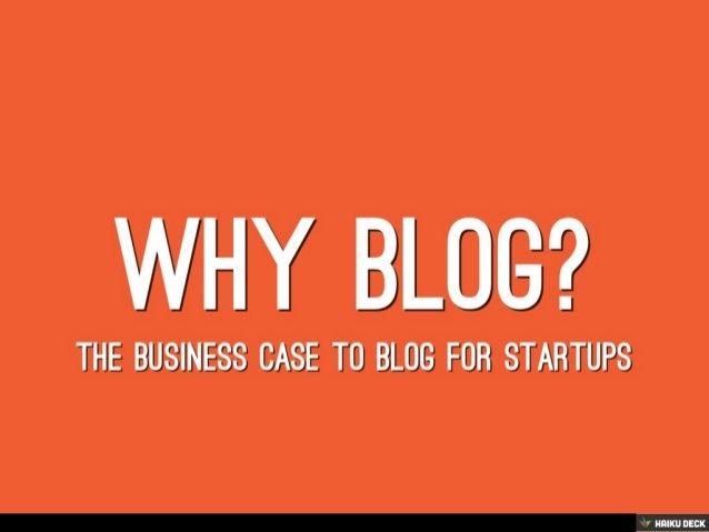Blogging tips for startups