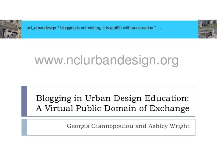 Blogging in Urban Design Education