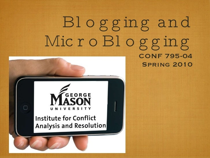 Blogging & Microblogging