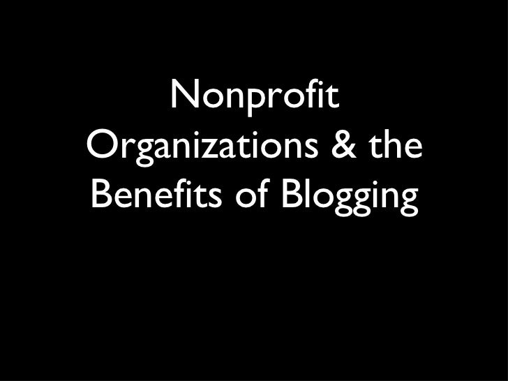 Nonprofit Organizations and Blogging