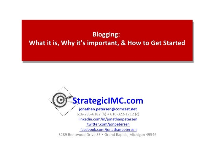 StrategicIMC.com [email_address] 616-285-6182 (h) • 616-322-1712 (c) linkedin.com/in/jonathanpetersen  twitter.com/jonpete...