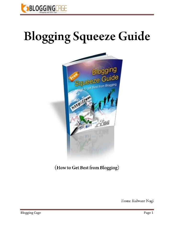 Blogging Cage   Page 1