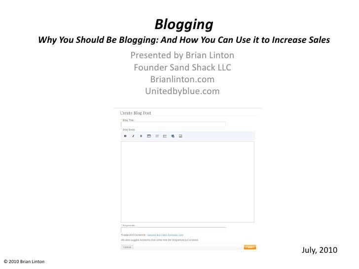 Blogging Trade Show Seminar