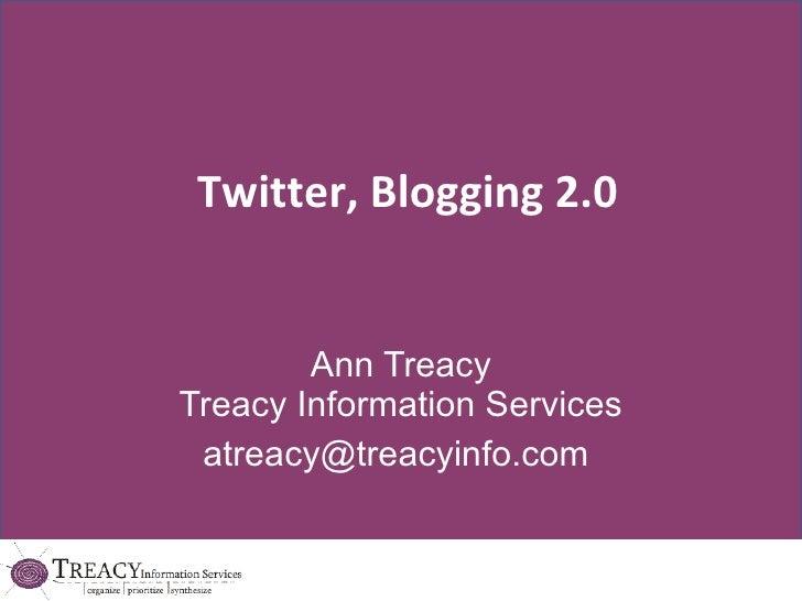 Blogging Twitter 2.0