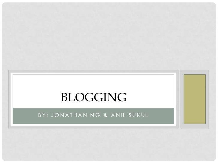 Blogging updated