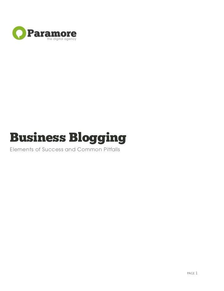 Corporate Blogging Whitepaper