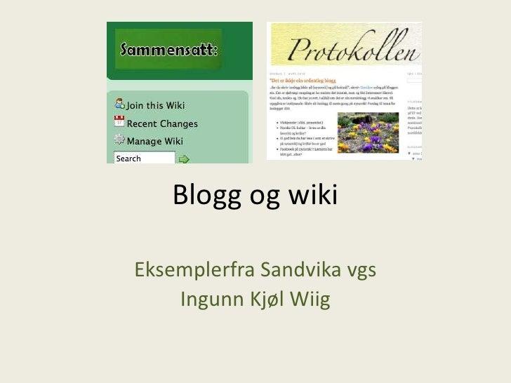 Blogg og wiki