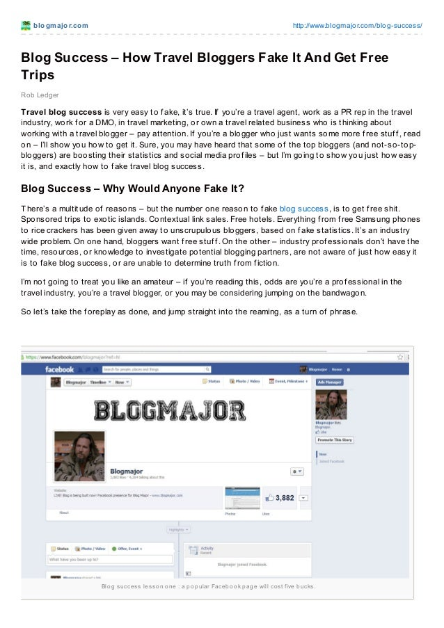 Blogmajor.com blog success-_how_travel_bloggers_fake_it_and_get_free_trips