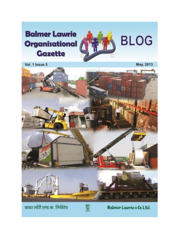 Balmer Lawrie - Blog May 2013