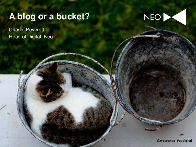 A blog or a bucket? Charlie Peverett Head of Digital, Neo  @weareneo #ccdigital