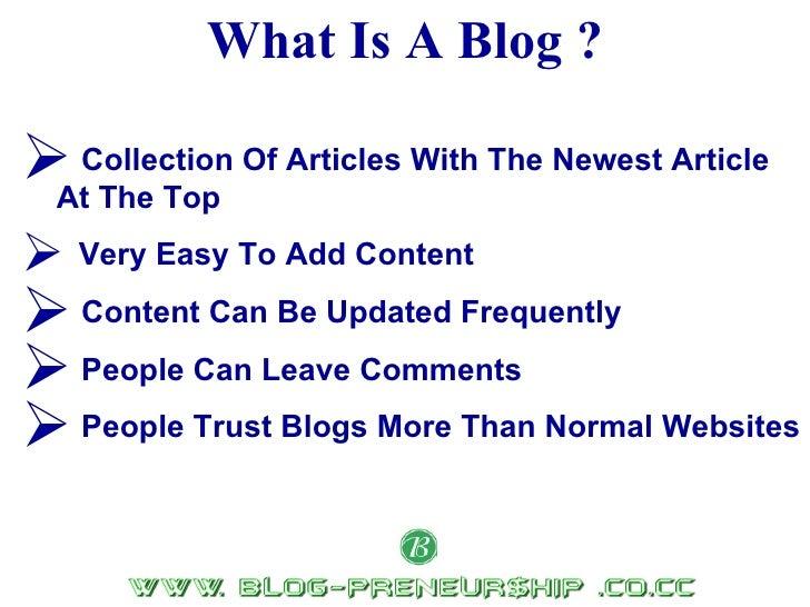 Blogpreneurship  Video1