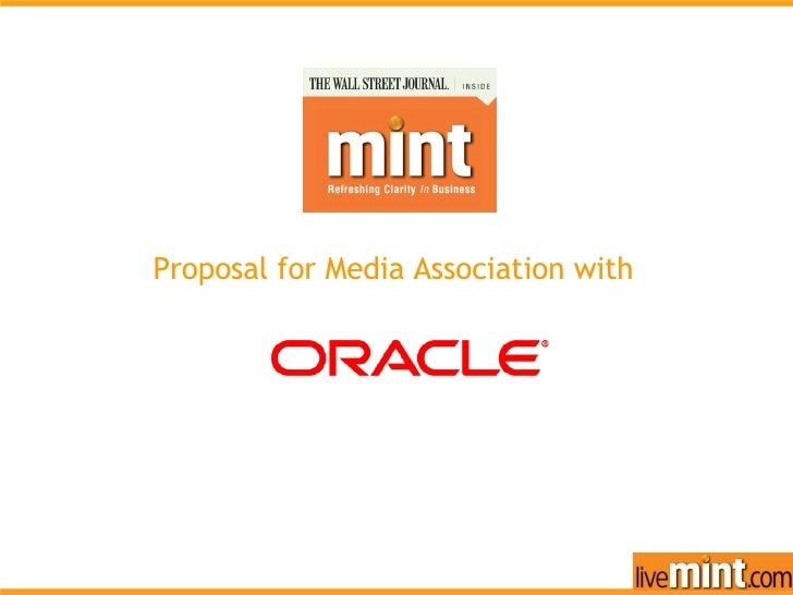 Our Offerings Proposal for Media Association with