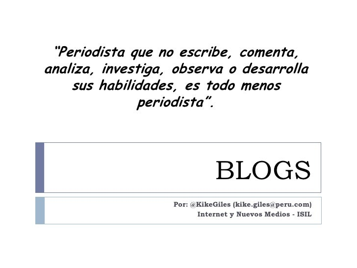 Blogs - Estadisticas Technorati 2009