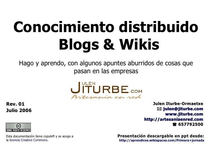 Blogs Conocimiento Distribuido