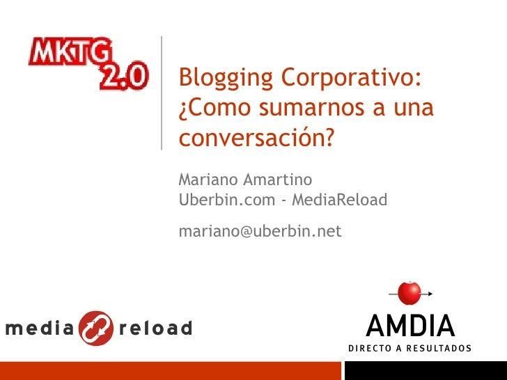 Blogs Corporativos AMDIA