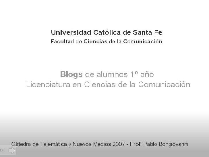 Blogs de alumnos de Comunicación 2007