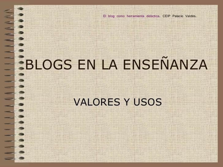 Blogs educativos: tipología y usos