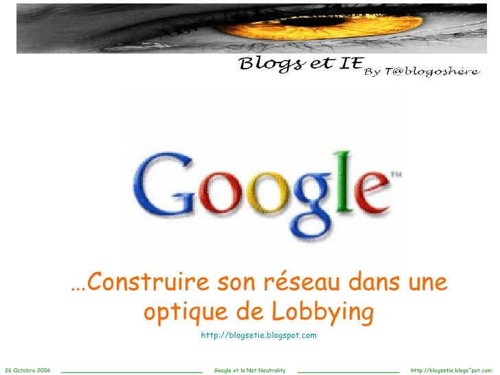 Blogs et IE...Google