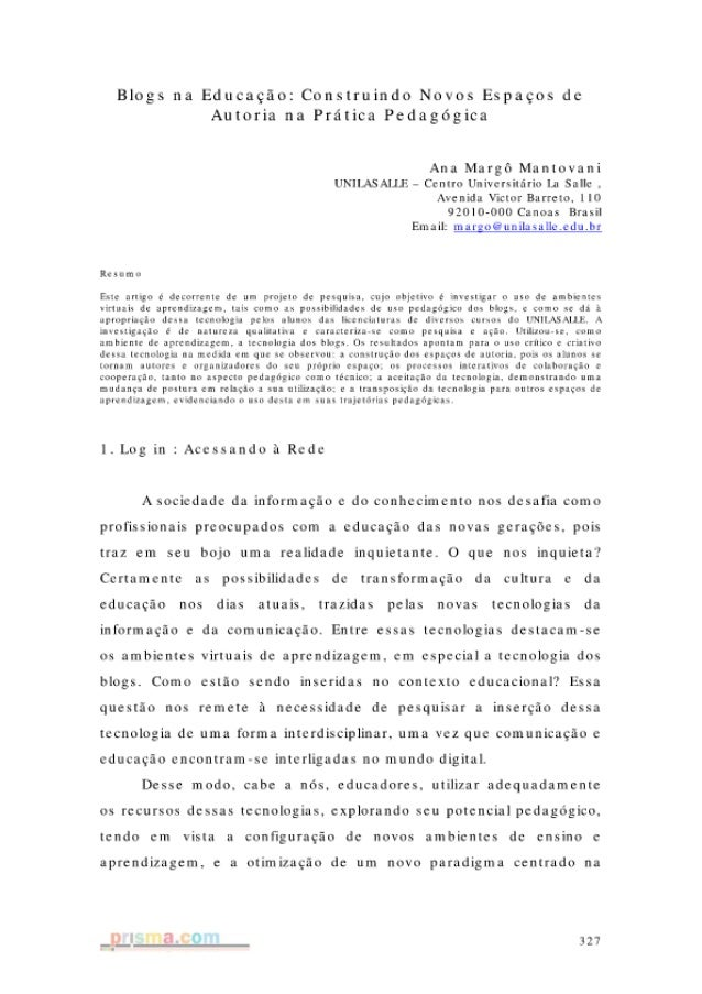 Blogs Na Educacao