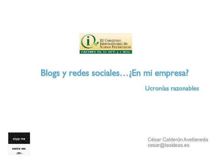 Blogs, redes sociales y Empresa