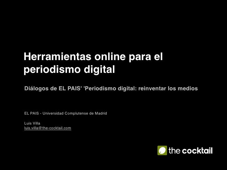 Blogs y herramientas para el periodismo digital