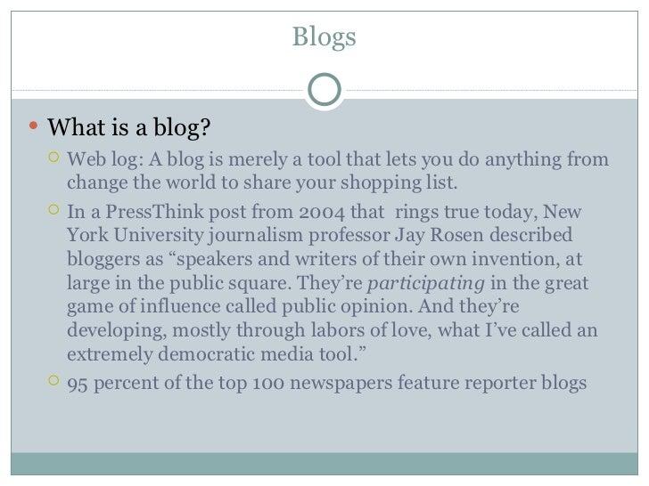 Blogs & blogging