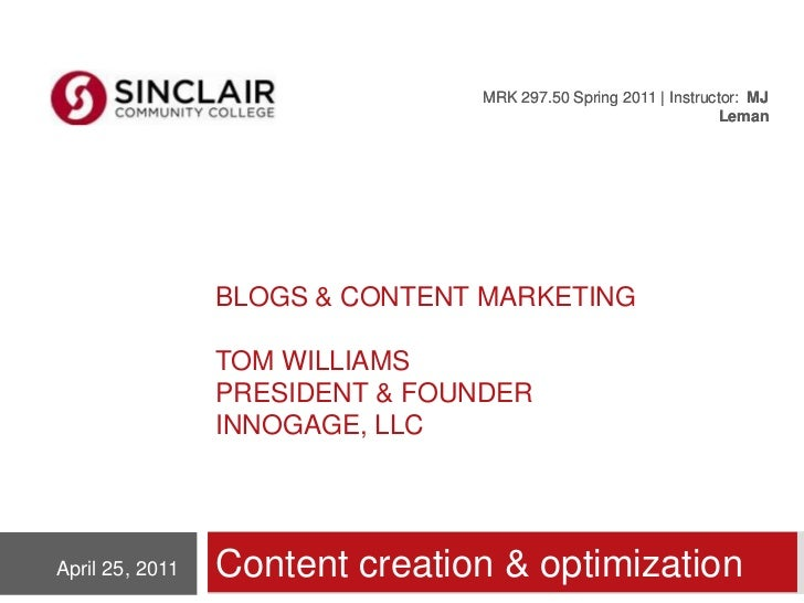 Blogs & Content Marketing