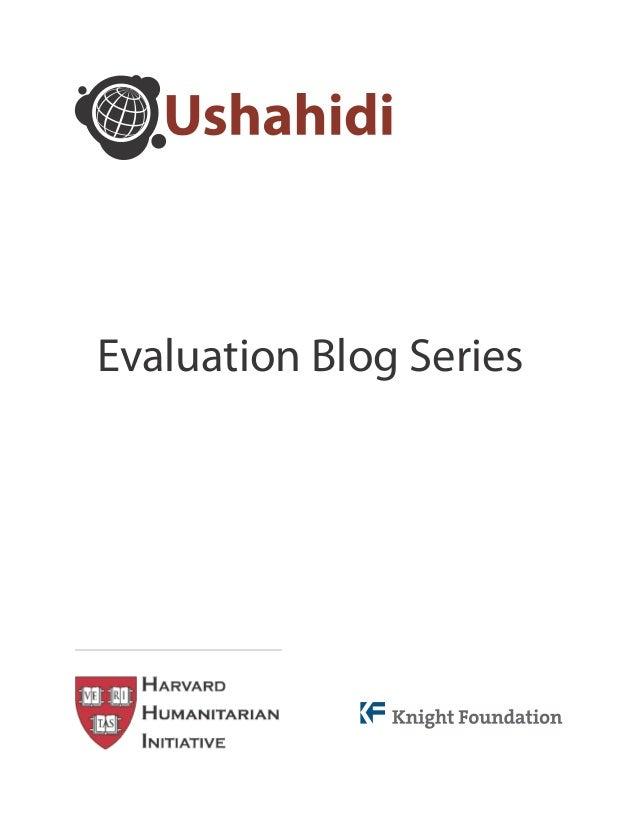 Kenya Ushahidi Evaluation: Blog Series