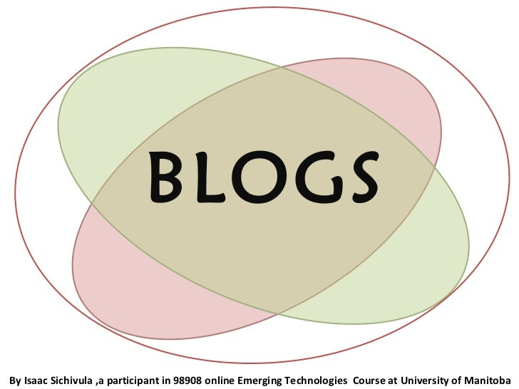 BLOGS By Isaac Sichivula ,a participant in 98908 online Emerging Technologies  Course at University of Manitoba