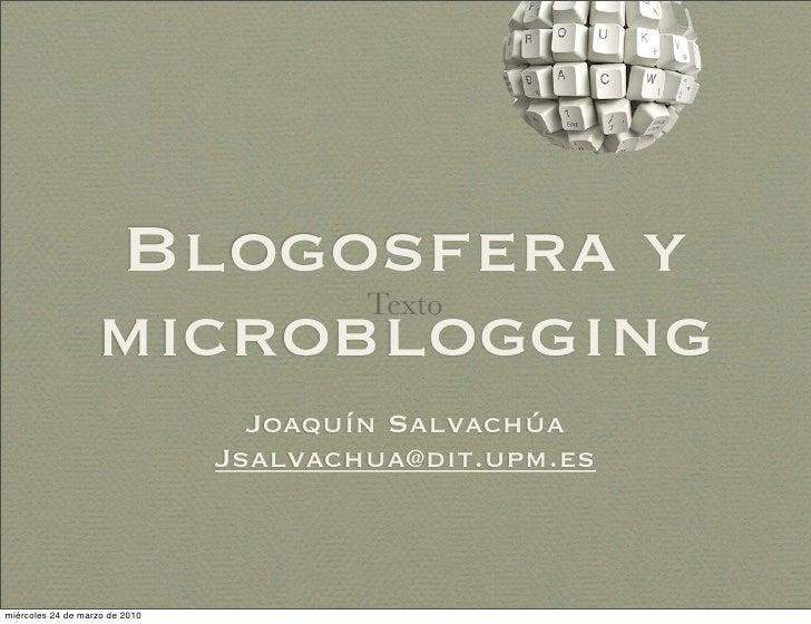 Blogs y Microblogging