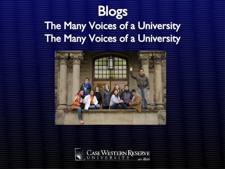 Blogs The Many Voices of a University The Many Voices of a University