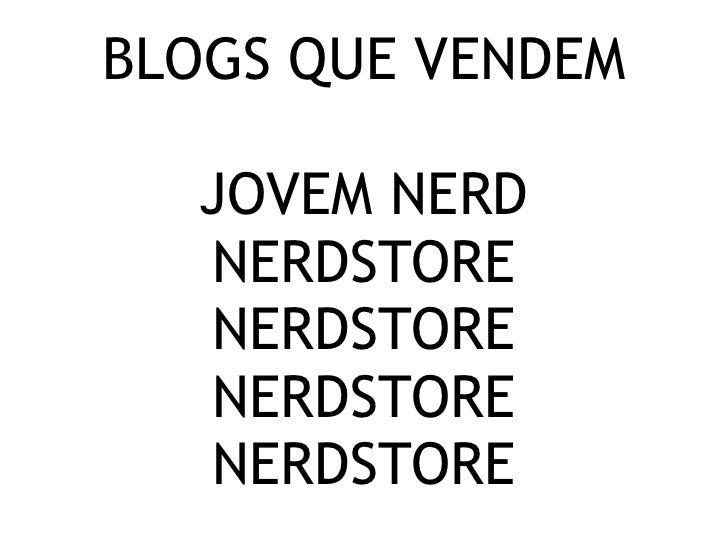 Blogs que vendem - Jovem Nerd
