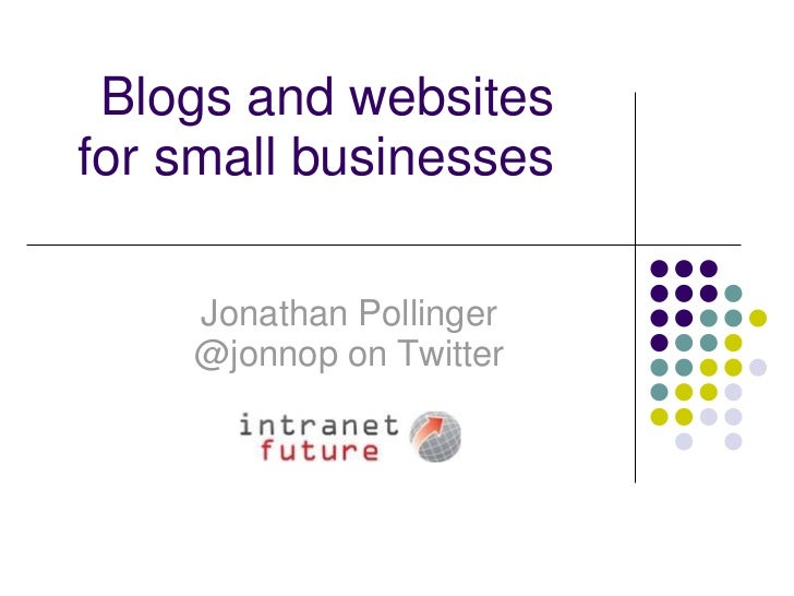 Blogs and Websites for Small Businesses
