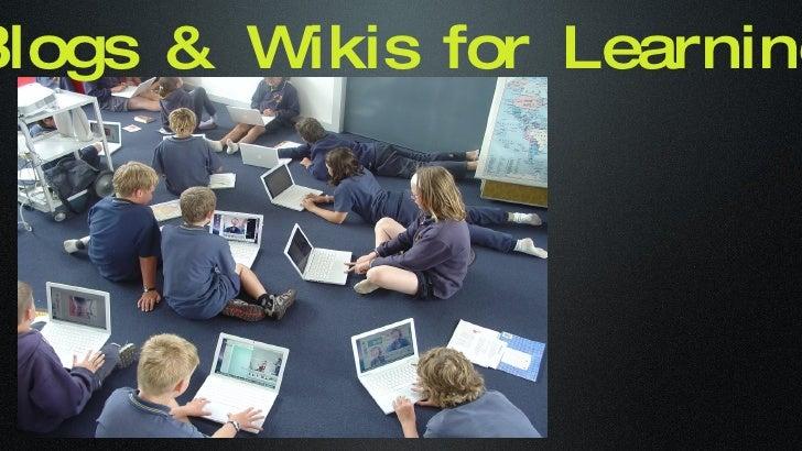 Blogs&Wikisforlearningslideshare