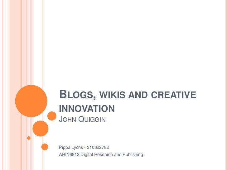 Blogs&wikis presentation